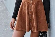 Suede mini skirt combines