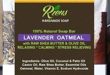 Handmade Lavender Oatmeal Soap