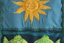 Applique & Beading / Contemporary art wall quilts & carry bags.