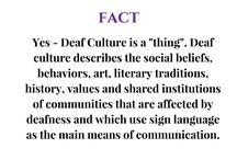 Deaf Culture Facts