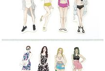 Girl Stickers OOTD