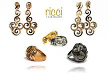 Ricci Silhouete Collection / Silver and diamonds.. Unique collection based in the famous Gold Ricci from our ascendants