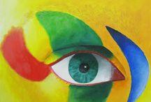 serie OJOS del pintor Iván Andrada / Serie ojos, encontrada en http://venta-cuadros-decorativos.blogspot.com.es/2010/12/serie-ojos.html