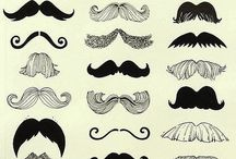 mustaches galore / by Rene Manning