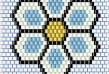 brick stitch schéma