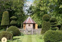Oak garden structures / Handmade green oak garden features