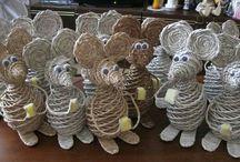 плетеные животные