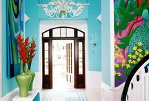 ✭ COLOUR YOUR HOME / Houses with fabulous colors ...  Photos to inspire you!