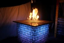 Gabion Fireplace and Sign Display