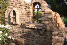 Steinwand Garten