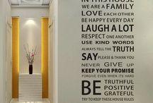 Правила дома / Какие правила необходимо соблюдать дома? Уважать друг друга, мечтать, смеяться, помогать друг другу, держать обещания, быть честными! Декорируйте ваш дом этими прекрасными словами!