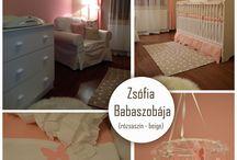 Zsófia babaszobája / Beige rózsaszín