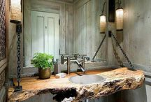 Bath Area Ideas / Whether it be calm & relaxing, bold & daring, or rustic and vintage-we've got some great ideas here!
