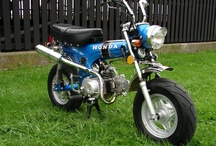Little Honda / Still have our CT-70.  Rode off road when I was a kid in the 70's. Then used it to commute to high school in the 80's, when everyone else had mopeds.  Then used it as a pit bike at the drag strip in the 90's. / by Kevin Tanaka