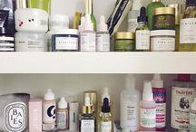 Inside beauty cabinets