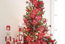 Vánoce - vánoční strom / Inspirace pro zdobení vánočního stromu