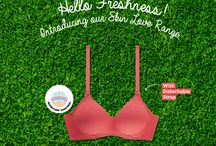 Aloe Fresh / Stay fresh and comfortable with our newly launched Skin Love Range. These molded t-shirt bras, with Moisture Management Technology, absorb sweat and regulate moisture to keep you feeling fresh all day long.