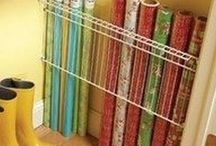 Storage ideas / Wrapping paper holder