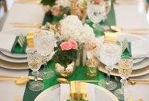 Emerald gold wedding
