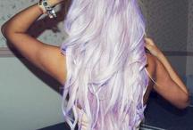 White/colour hair