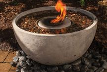 Fireplaces / Portable fireplaces for both indoor and outdoor areas. Nothing to build or install, plus easy to use with clean burning fuel. See them here: http://www.garden-fountains.com/fireplaces/.