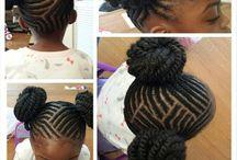 afro kids hair