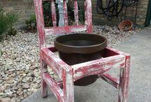 Riciclare vecchie sedie / Riciclo sedie creativo: idee utili per casa e giardino