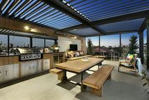 patio using louvre ceilings