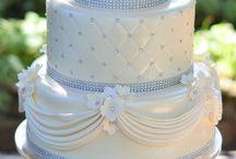 Bryllupskaker / Kaker med innslag av blått