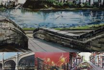 Urban Landscapes / Urban scenery by SANTINI GALLERY artists.