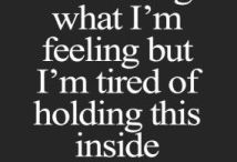 Deep quotes/ feelings / pain/depression