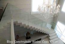 Escadas! / Veja + Inspirações e Dicas de decoração no blog!  www.construindominhacasaclean.com