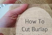 Things to do with burlap! / #coffee #burlap #dyi #thequeenbean