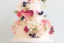 Винтажные свадебные торты