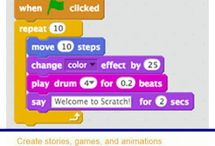 Scratch / This workshop explores the program Scratch which can be accessed on a laptop. Scratch is a complete Sprite animation system which uses a visual coding language. It enables students in primary years to create their own interactive stories, games and animations. Links to Technologies curriculum Years 3 to 6.
