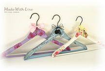 Coat Hanger - Made With Love / Decoupage Coat Hanger
