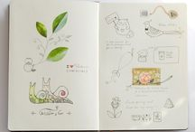 Sketch Book inspiration  / Other peoples sketchbooks are fascinating.