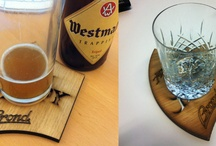 Brond Drinks Coasters / Brond produced this hand crafted laser etched drinks coaster