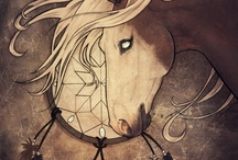 dessin chevaux