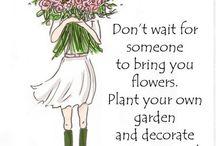 Floristin puutarhassa