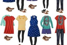 Mix and match outfits / Mix and match outfits are small amounts of basic clothing that can mix and match to make a lot more outfits. Cheap, easy and ideal