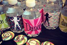 Dance, dancing in the dark or disco party