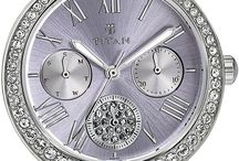 Titan - Purple / Love accessorizing but want to keep it minimal? Make a statement with these exquisite wristwatches from Titan.  The water colour pastels and Swarovski stones are sure to add a classy finish to your overall look.