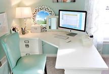 Sewing Craft Room Organization / Sewing and Craft Room Inspiration with storage solutions