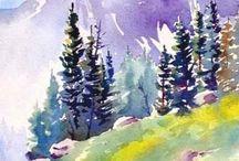 Akvarell táj