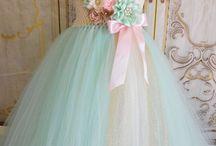 renkli tül elbise