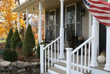 Side steps to side porch