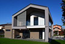 Villa moderna in legno a Treviglio (BG) / Villa moderna con struttura in legno realizzata a Treviglio (BG) da Marlegno