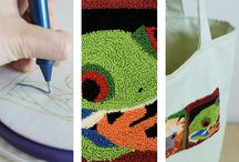 Punchneedle / everything related to punchneedle that can inspire me (materials, works, books, ....)