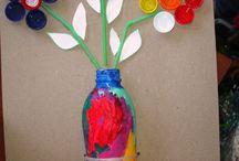 handicrafts with plastic waste